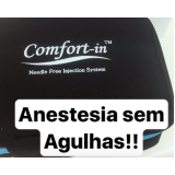 dentista com anestesia sem agulha